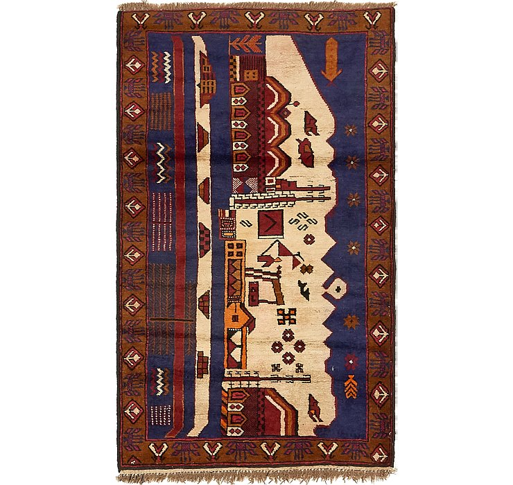 HandKnotted 2' 10 x 4' 9 Balouch Persian Rug