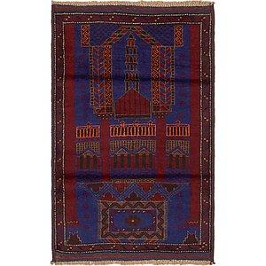 Unique Loom 2' 10 x 4' 7 Balouch Persian Rug
