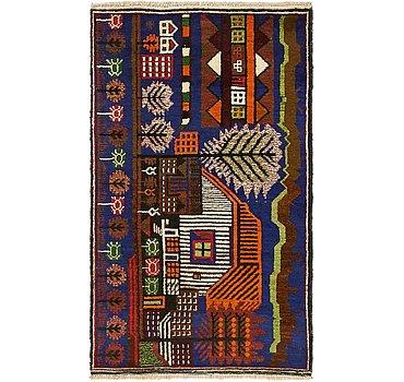 84x140 Balouch Rug