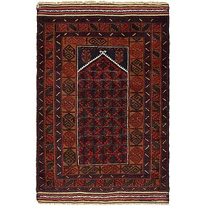 HandKnotted 3' 2 x 4' 7 Balouch Persian Rug