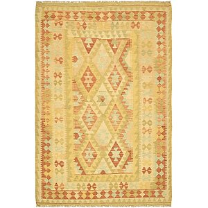 Unique Loom 4' 5 x 6' 10 Kilim Waziri Rug