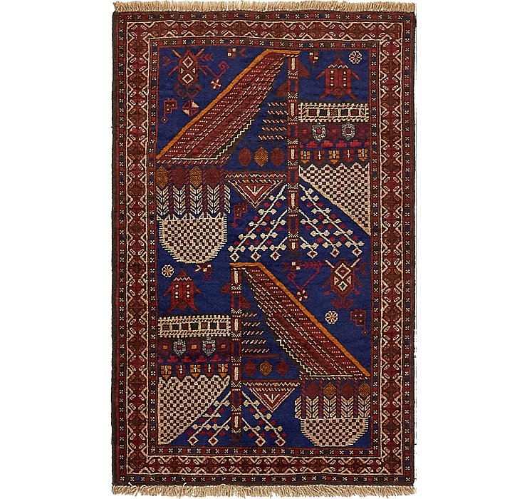 2' 9 x 4' 4 Balouch Persian Rug
