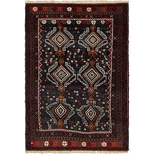 Unique Loom 3' x 4' 4 Balouch Persian Rug