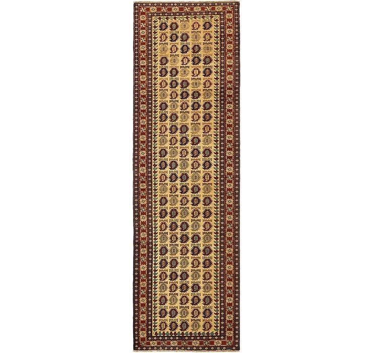 3' x 9' 10 Kazak Oriental Runner Rug