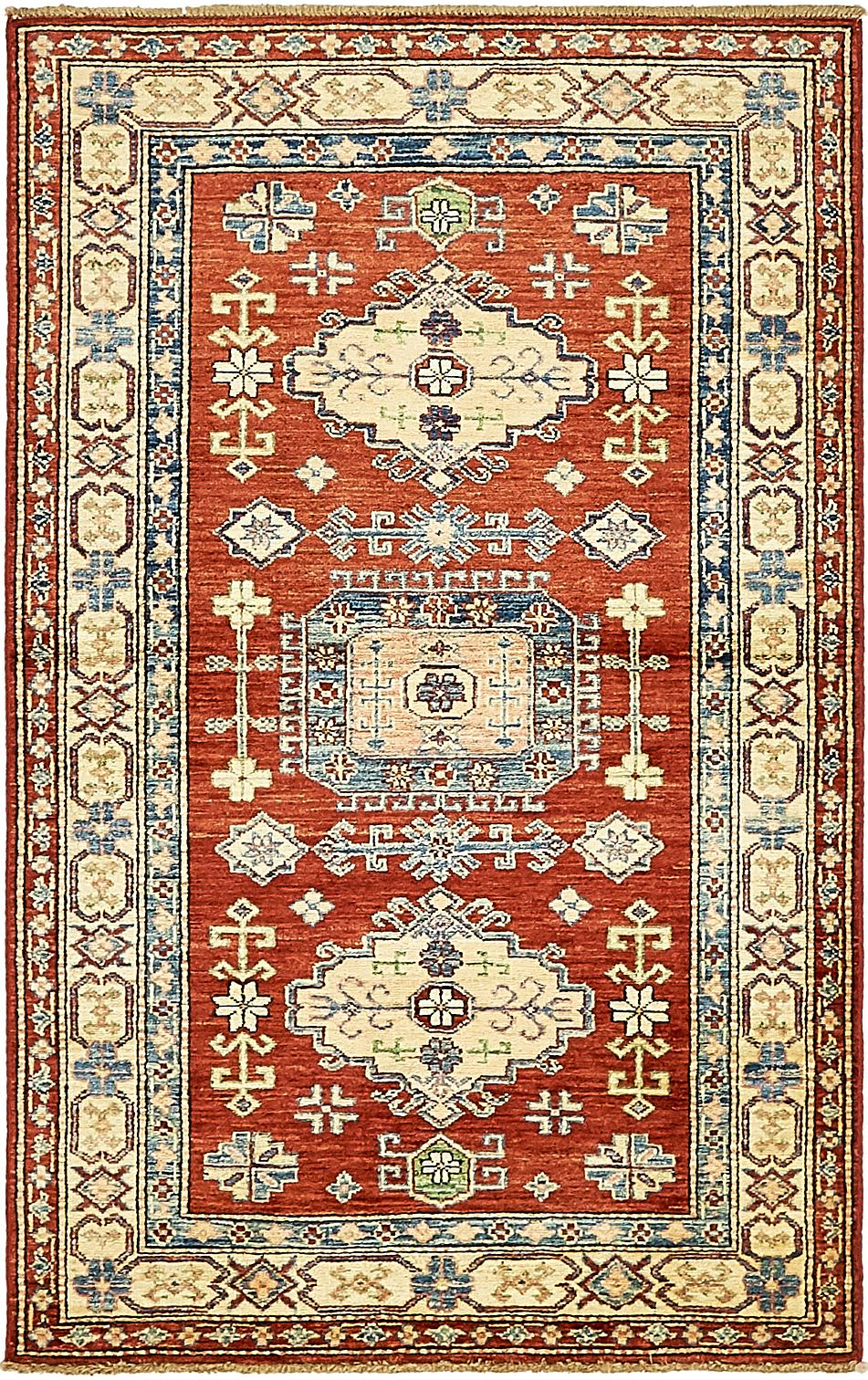 Main Handknotted 3 X 5 Kazak Oriental Rug Photo