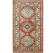 Link to HandKnotted 3' x 5' 4 Kazak Oriental Rug