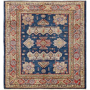 Unique Loom 5' x 5' 2 Kazak Oriental Square Rug