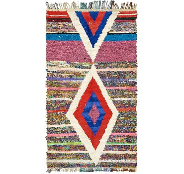 117x208 Moroccan Rug