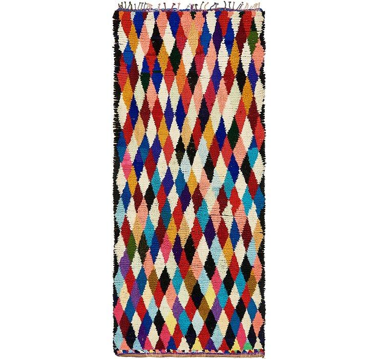 6' x 13' 8 Moroccan Runner Rug
