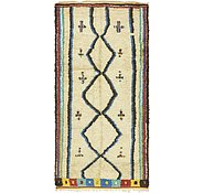 Link to 4' 6 x 9' 3 Moroccan Runner Rug