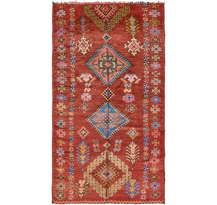 HandKnotted 4' 10 x 8' 7 Moroccan Rug