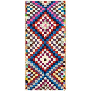 HandKnotted 4' x 8' 10 Moroccan Rug