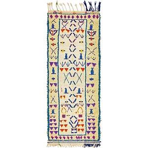2' 10 x 7' 7 Moroccan Runner Rug
