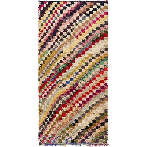 HandKnotted 4' 3 x 9' 4 Moroccan Runner Rug