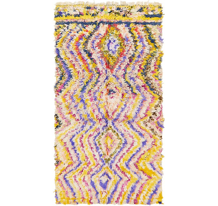 HandKnotted 4' 9 x 9' Moroccan Rug