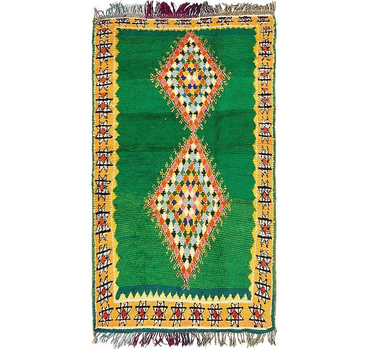 3' 7 x 7' 2 Moroccan Runner Rug