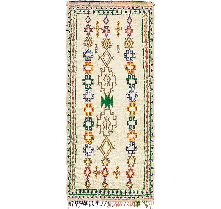 3' 10 x 9' 5 Moroccan Runner Rug