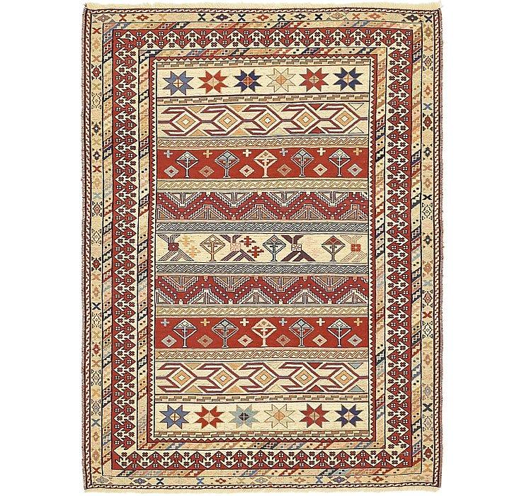 4' x 5' 4 Sirjan Persian Rug