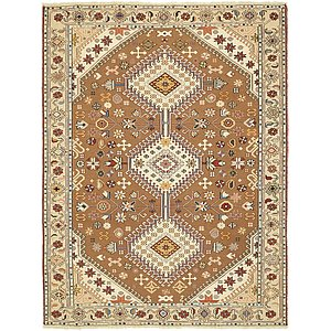 Unique Loom 4' x 5' 4 Sirjan Persian Rug