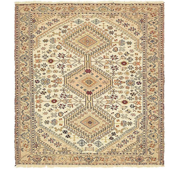 4' x 4' 5 Sirjan Persian Square Rug
