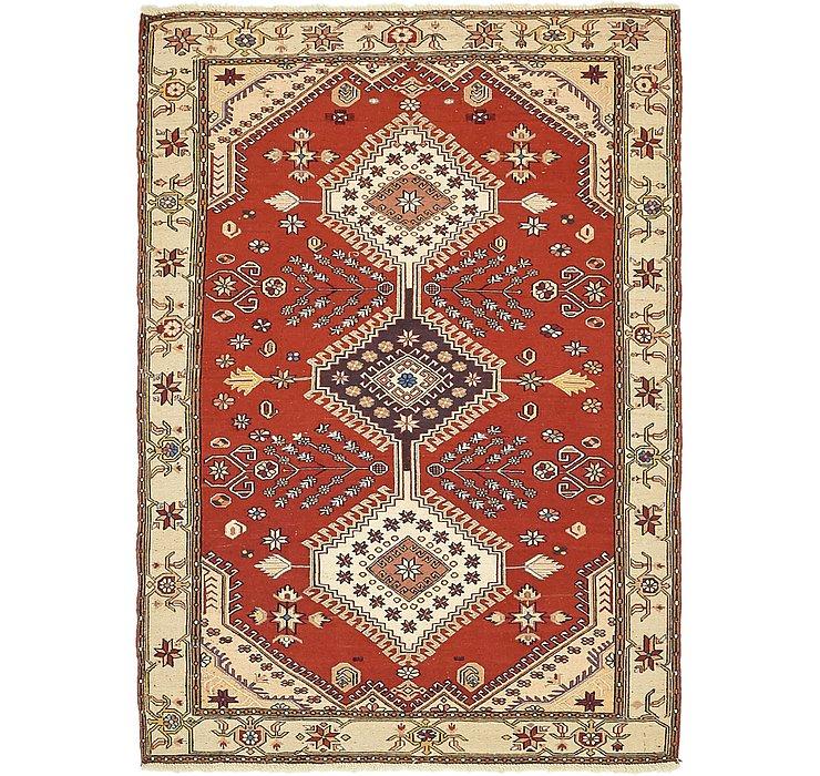 4' x 5' 7 Sirjan Persian Rug