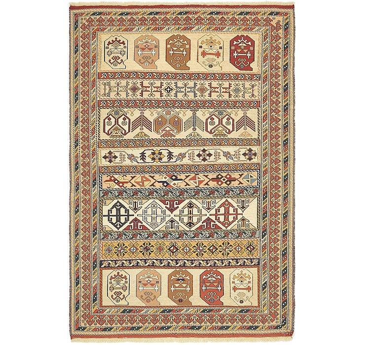 4' 3 x 6' 6 Sirjan Persian Rug