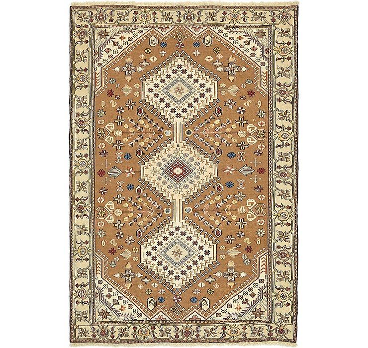 4' 2 x 6' 4 Sirjan Persian Rug