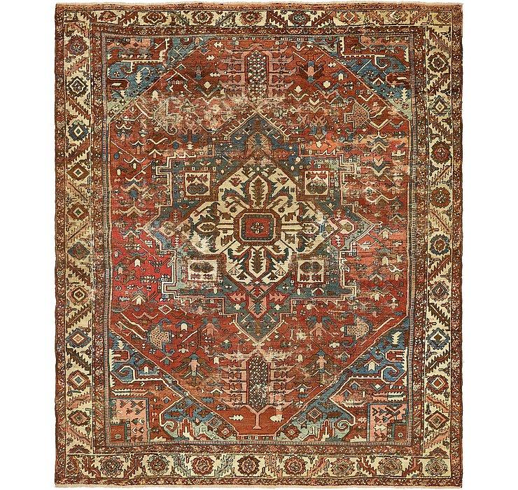 HandKnotted 10' x 11' 8 Heriz Persian Rug