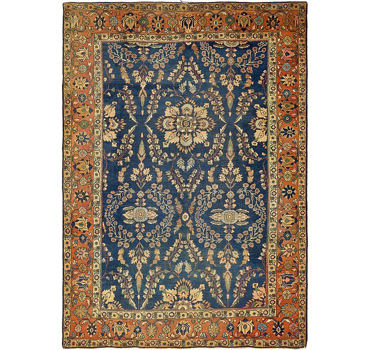 8' 7 x 12' 6 Sarough Persian Rug