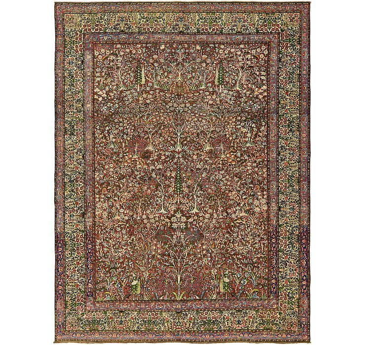 9' x 11' 10 Kerman Persian Rug