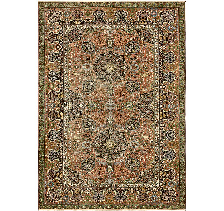 9' 2 x 12' 9 Tabriz Persian Rug