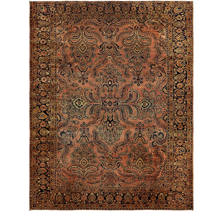 9' 4 x 12' Sarough Persian Rug