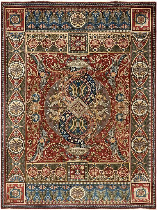Red 270cm X 365cm Tabriz Persian Rug Persian Rugs Au Rugs
