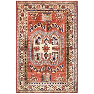 Unique Loom 2' 7 x 4' Kazak Rug