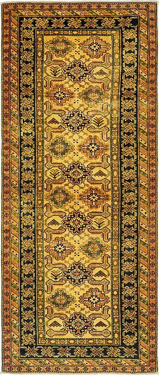 Gold 3 X 7 5 Kazak Runner Rug Oriental Rugs Esalerugs