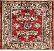 Link to 4' 8 x 5' Kazak Oriental Square Rug