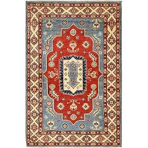 4' x 6' 3 Kazak Oriental Rug
