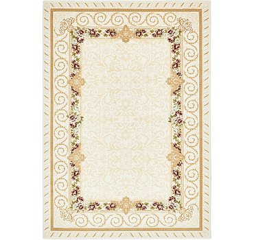 198x287 Carved Aubusson Rug