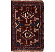 Link to 3' x 4' 7 Balouch Persian Rug