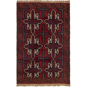 Unique Loom 3' x 4' 7 Balouch Persian Rug