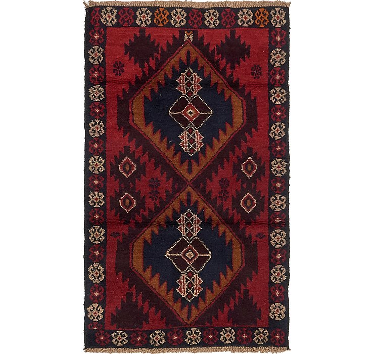 HandKnotted 2' 9 x 4' 8 Balouch Persian Rug