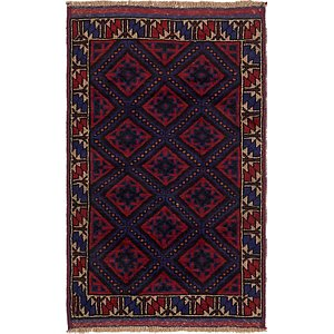 Unique Loom 3' x 4' 8 Balouch Persian Rug
