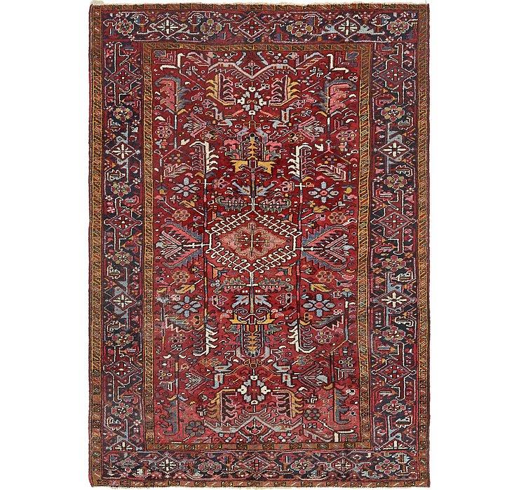 6' 7 x 9' 5 Heriz Persian Rug