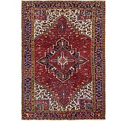 Link to 7' 9 x 11' 2 Heriz Persian Rug