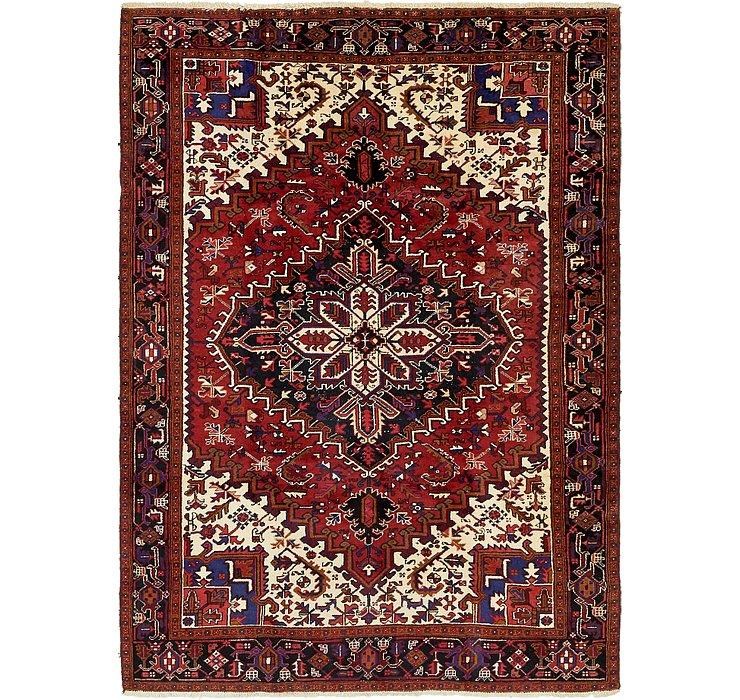 7' x 9' 10 Heriz Persian Rug