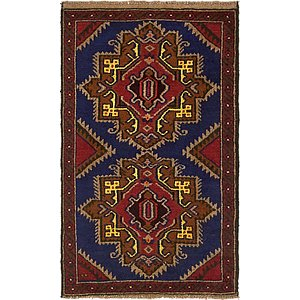 Unique Loom 2' 10 x 4' 9 Balouch Persian Rug