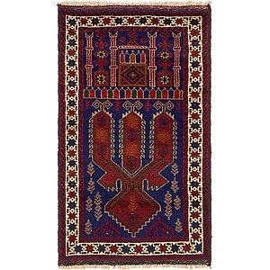 Unique Loom 2' 10 x 4' 9 Balouch Persian Rug