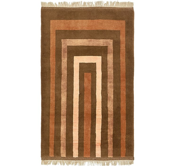 4' x 7' Shiraz-Gabbeh Persian Rug