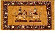 Link to 2' x 3' 8 Ghashghaei Persian Rug