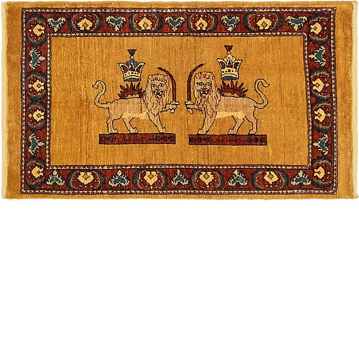 2' x 3' 8 Ghashghaei Persian Rug